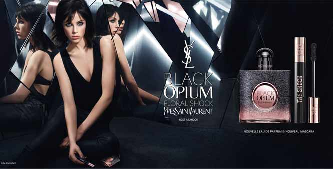 lancement de black opium floral shock et du volume mascara the shock d yves saint. Black Bedroom Furniture Sets. Home Design Ideas